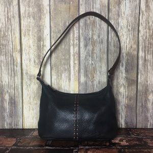 Fossil Black Leather Shoulder Bag